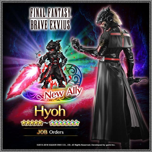 Final Fantasy Exvius On Twitter The Wait Is Finally Over Hyoh The Delta Star Of The Aldore Orders Is Now An Available Unit Summon Him To Your Team And Let His Blade