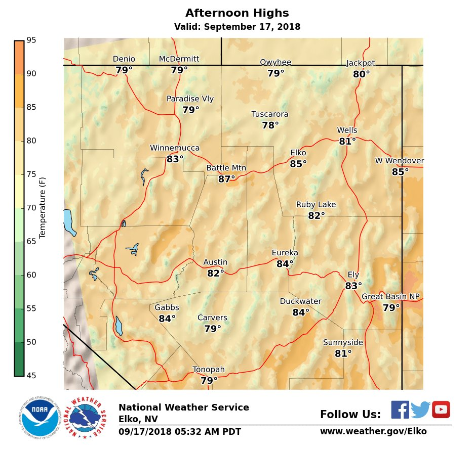 Lighter winds and dry conditions under mostly clear skies will continue across the state through the next several days with near to somewhat above normal temperatures. #nvwx  https://t.co/QQZHRDxu5w