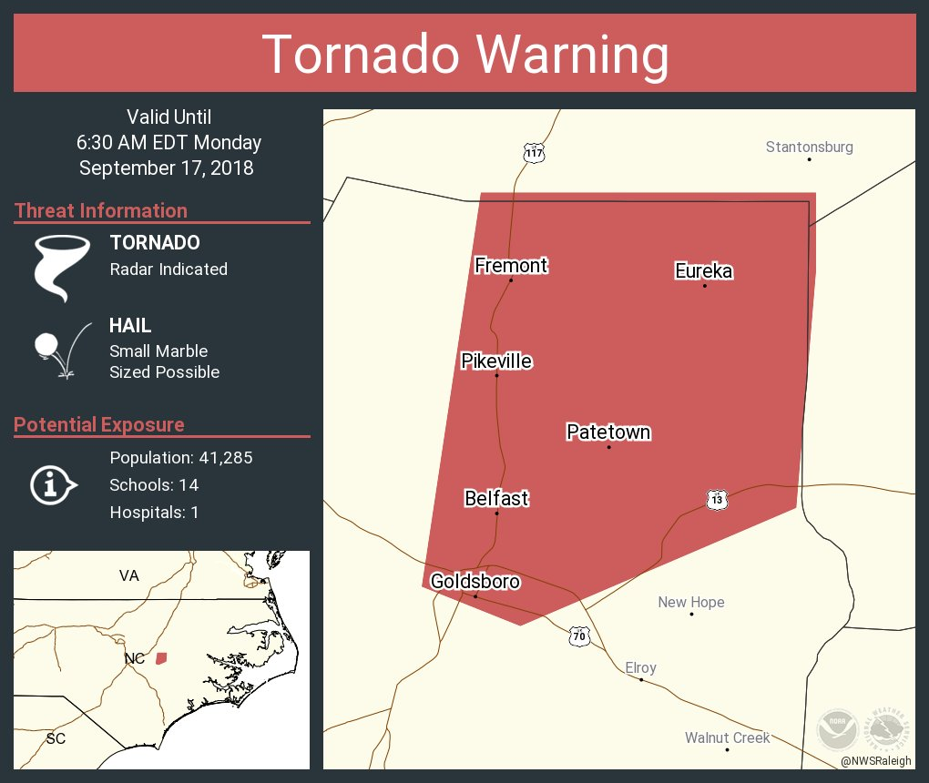 Pikeville Nc Map.Nws Raleigh On Twitter Tornado Warning Including Goldsboro Nc