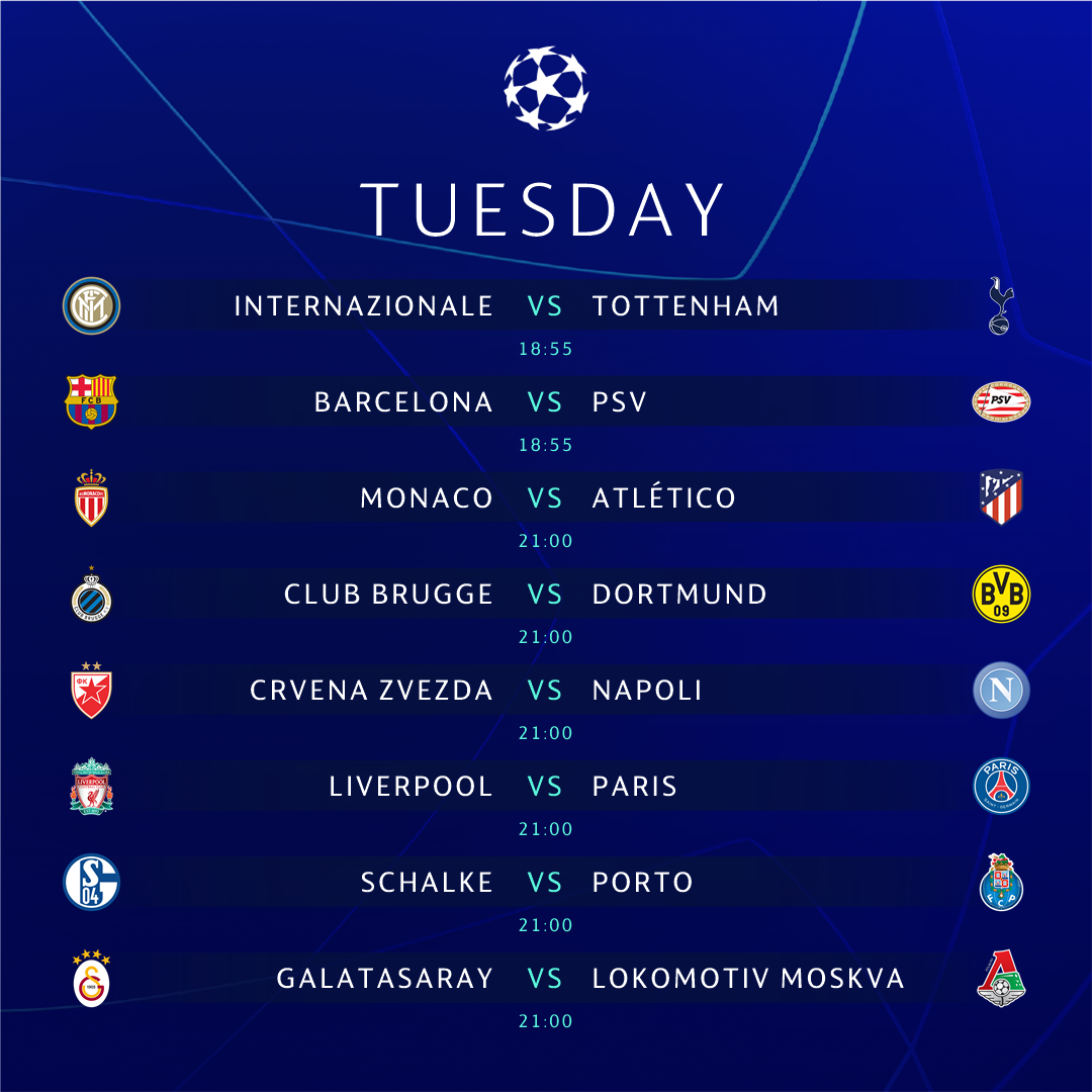 �� FIXTURES �� The #UCL is back with a bang �� Did you miss us? https://t.co/bwzRcsFtOI