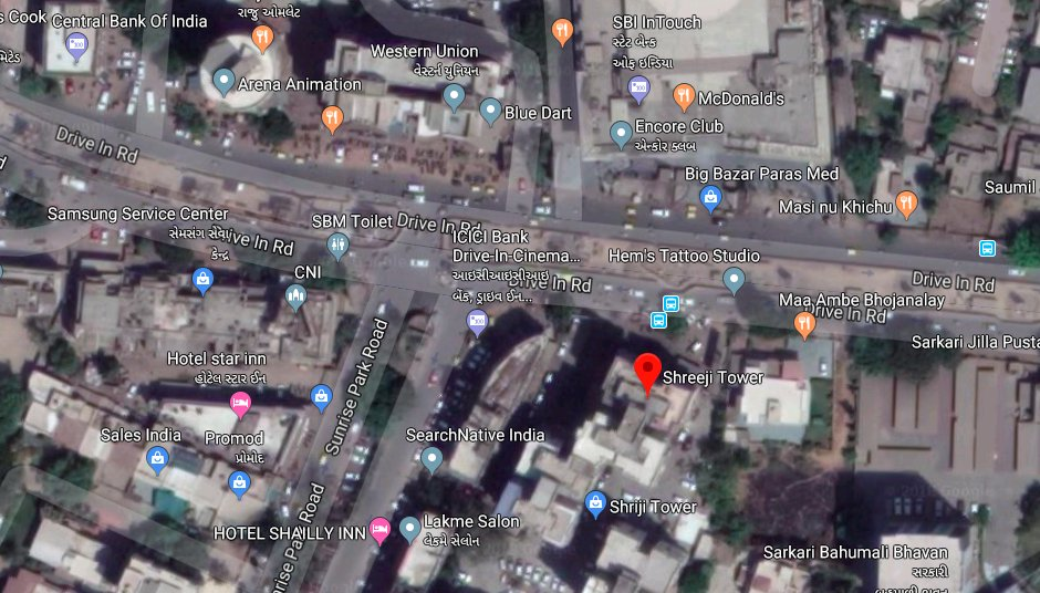 Fire in high-rise building in front of Himalaya mall on Drive In road of Ahmedabad