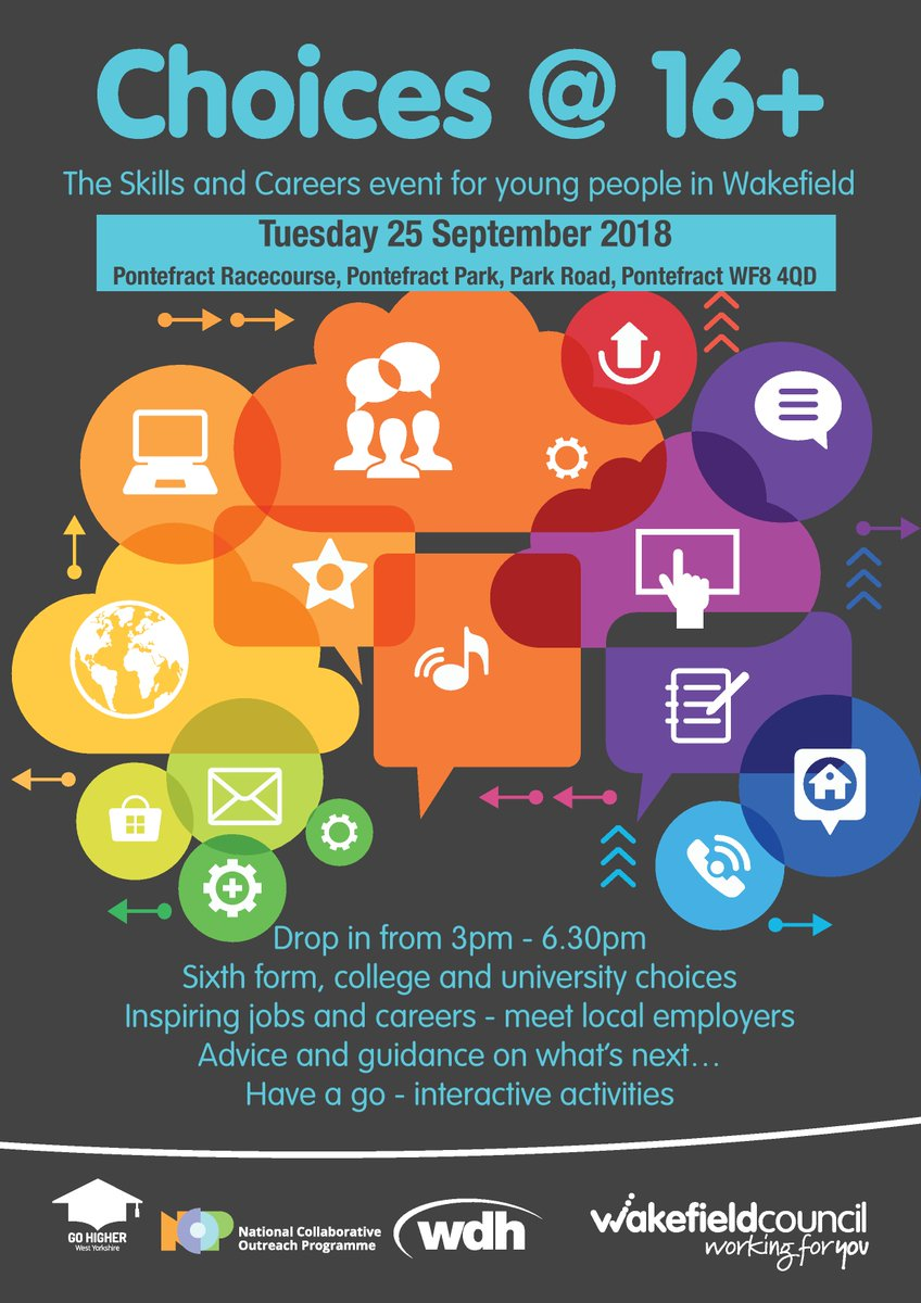 Just one week to go until the Choices @16+ Skills & Careers Event comes to Pontefract Racecourse #wakeychoices