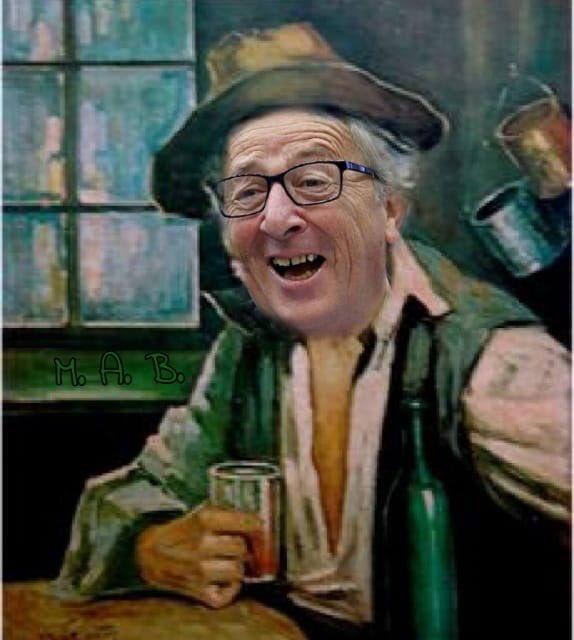 @AlfioKrancic #Asselborn dice che non ha notato che lo stavano riprendendo e non è bastato nemmeno il maxischermo a due metri da lui. Il fatto che lui e il suo compagno di bevute #Juncker cominciano e bere liquori di primo mattino e questo ha i suoi difetti!  - Ukustom