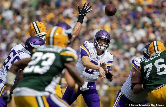 Photo Gallery: The Minnesota Vikings and Green Bay Packers finished in a 29-29 tie after overtime at Lambeau Field. #MINvsGB Foto