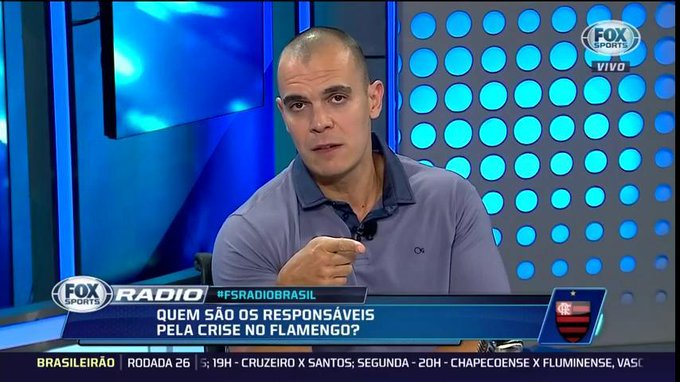🎙@mano97fm: Se o @Flamengo quiser avançar para a final da Copa do Brasil, tem que demitir o seu treinador #FSRádioBrasil Foto