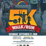 Image for the Tweet beginning: Saturday 9/22 Austin Power 5K