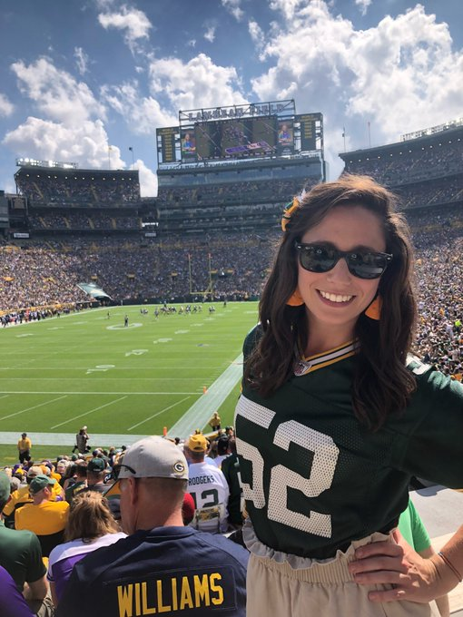 My first @packers game 100% lived up to the hype! #GoPackGo Foto
