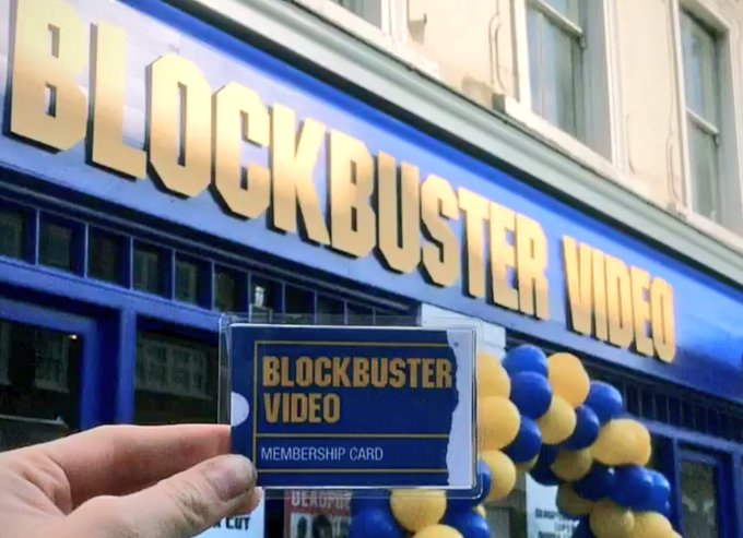 Have you still got your #BlockbusterVideo membership card? Bringing Blockbuster back for #Deadpool2 in London Photo