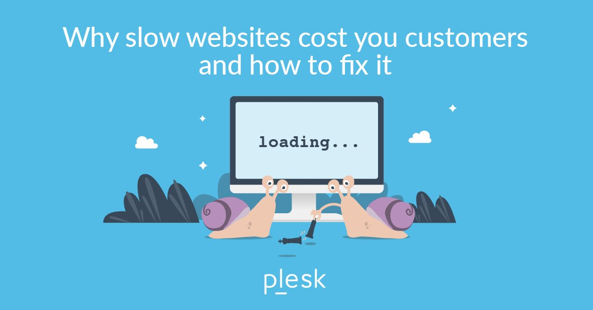 """Plesk on Twitter: """"#Speed has huge impacts on your revenues,"""