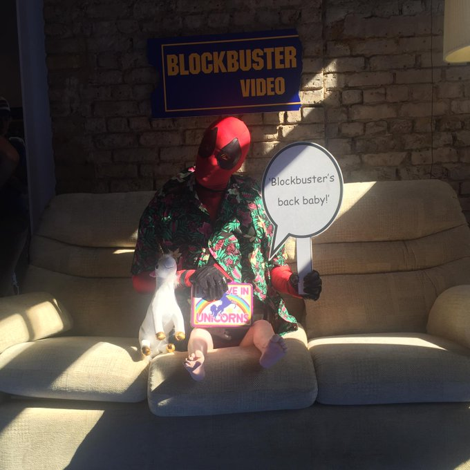 Who said bigger is better? Oh wait, that was me. #Deadpool2 #BlockbusterBack Photo