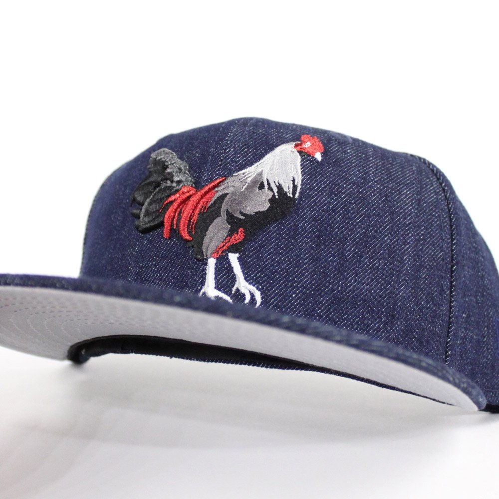 2079aaf1e1e5d ROOSTER New Era Fitteds(FOAMPOSITE ONE DENIM Gray Under Brim) http