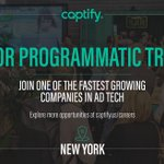 Captify is hiring! Explore this exciting new graduate opportunity in New York: https://t.co/SAkozCc3Wa #captifycareers #captify #adtech #media #adtechcareers