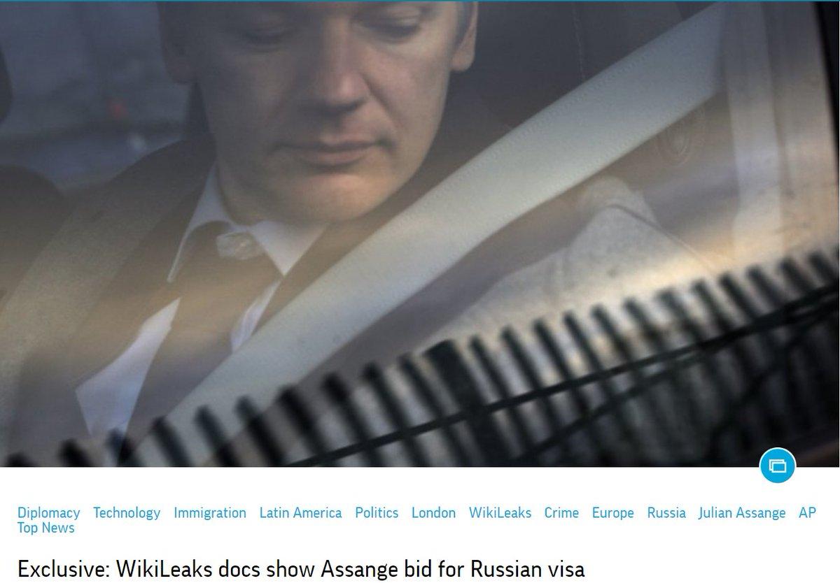 AP: WikiLeaks docs show Julian Assange sought Russian visa     https://t.co/KUUEHUOURM
