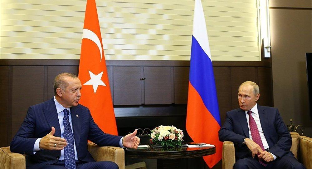 Erdoğan ve Putin'in Soçi'deki görüşmesi sona erdi sptnkne.ws/j8fC