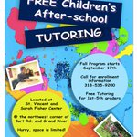 Welcome back, students! We're excited to launch our after-school tutoring program this afternoon!