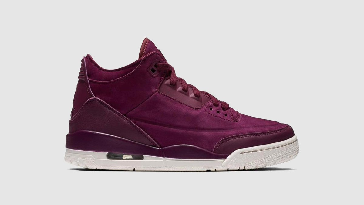 super popular f609c 006eb ... release date b5a7c dfc6b  cheapest jacklemkus on twitter womens air  jordan 3 retro bordeaux dropping 21.09.2018 r269900 uk3