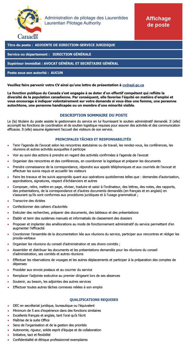 Administration De Pilotage Des Laurentides Apl Lpa Twitter