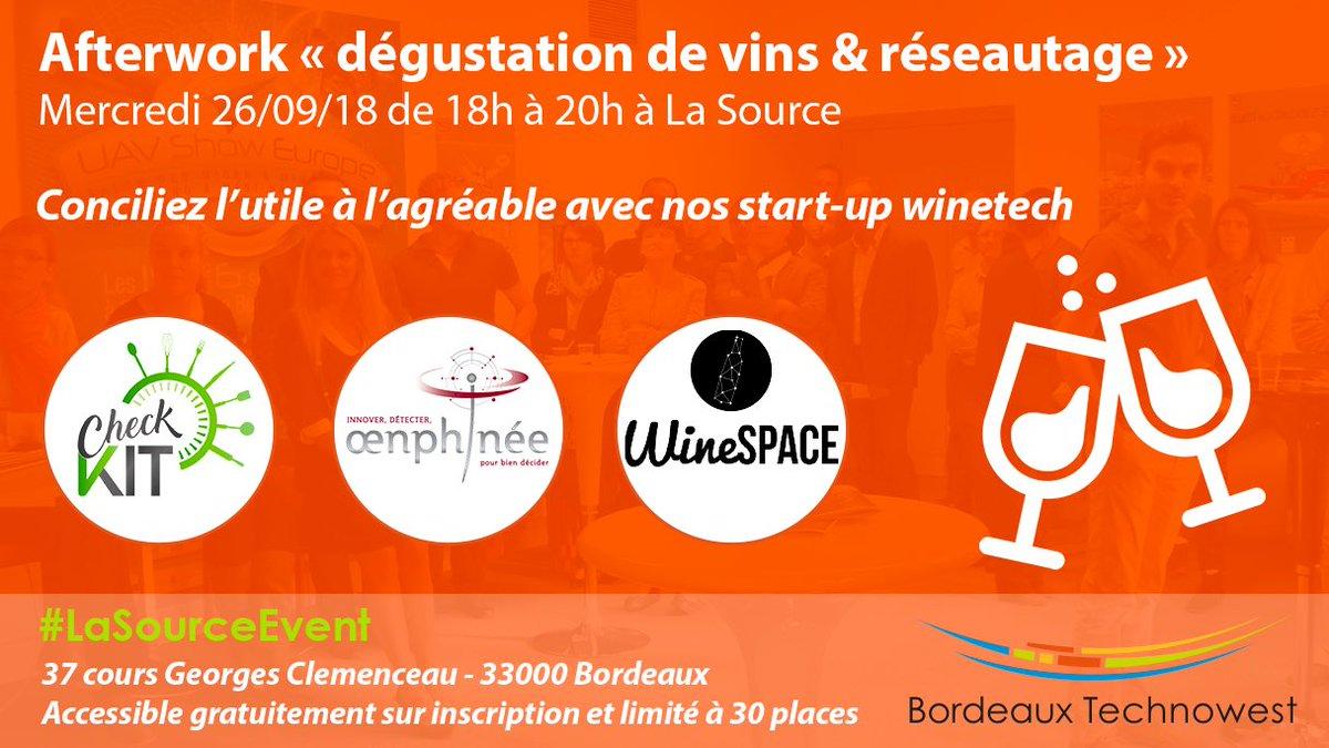 Venez réseauter et découvrir l'œnologie avec nos #startup de la #winetech à #LaSource le 26 sept ! 🍷 🍇  Inscrivez-vous (places limitées)  : https://t.co/4gPmySapUx