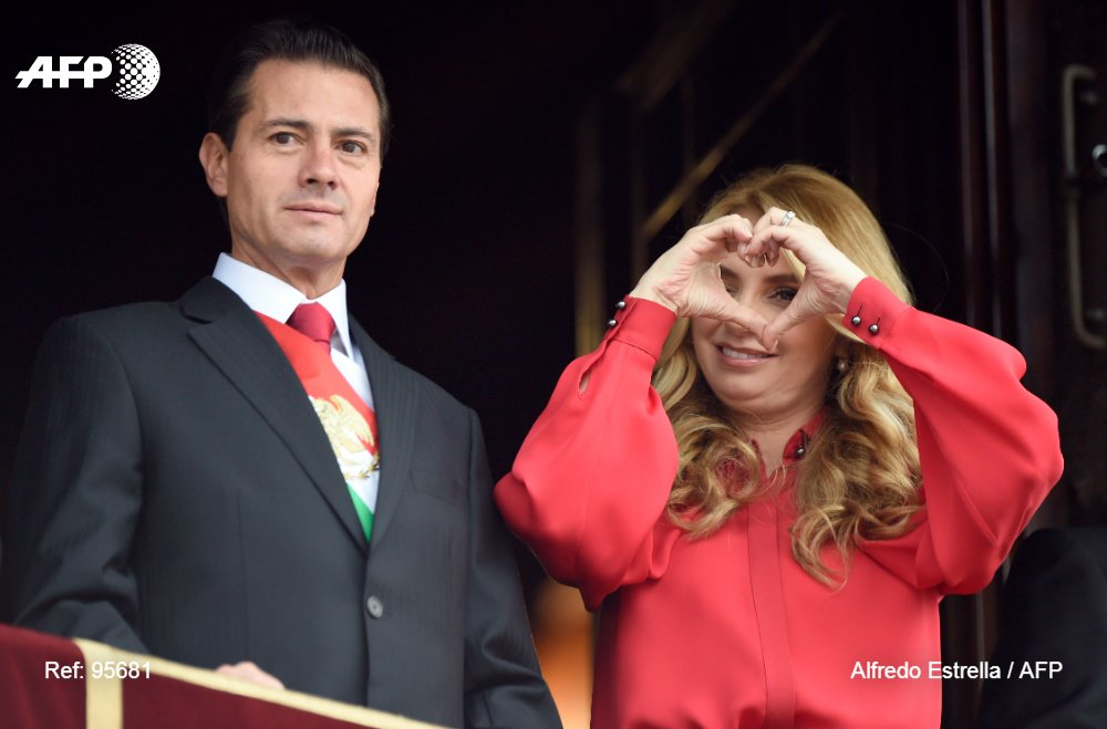 president enrique pena nieto l looks on as his wife angelica