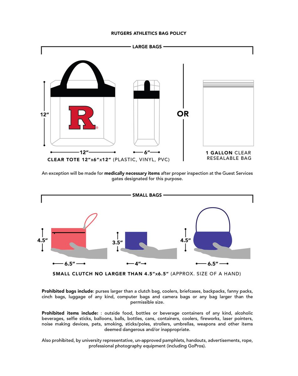Rutgers Scarlet Knights в Twitter Please View The Https T Co Ghh1dvvlp5 Stadium Bag Policy Prior To Saay S Rfootball Bkcypu3x9j