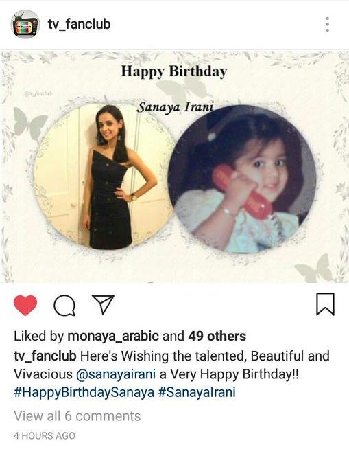 wishing Sanaya Irani a Happy Birthday via insta ..such a cuteeeeee pic