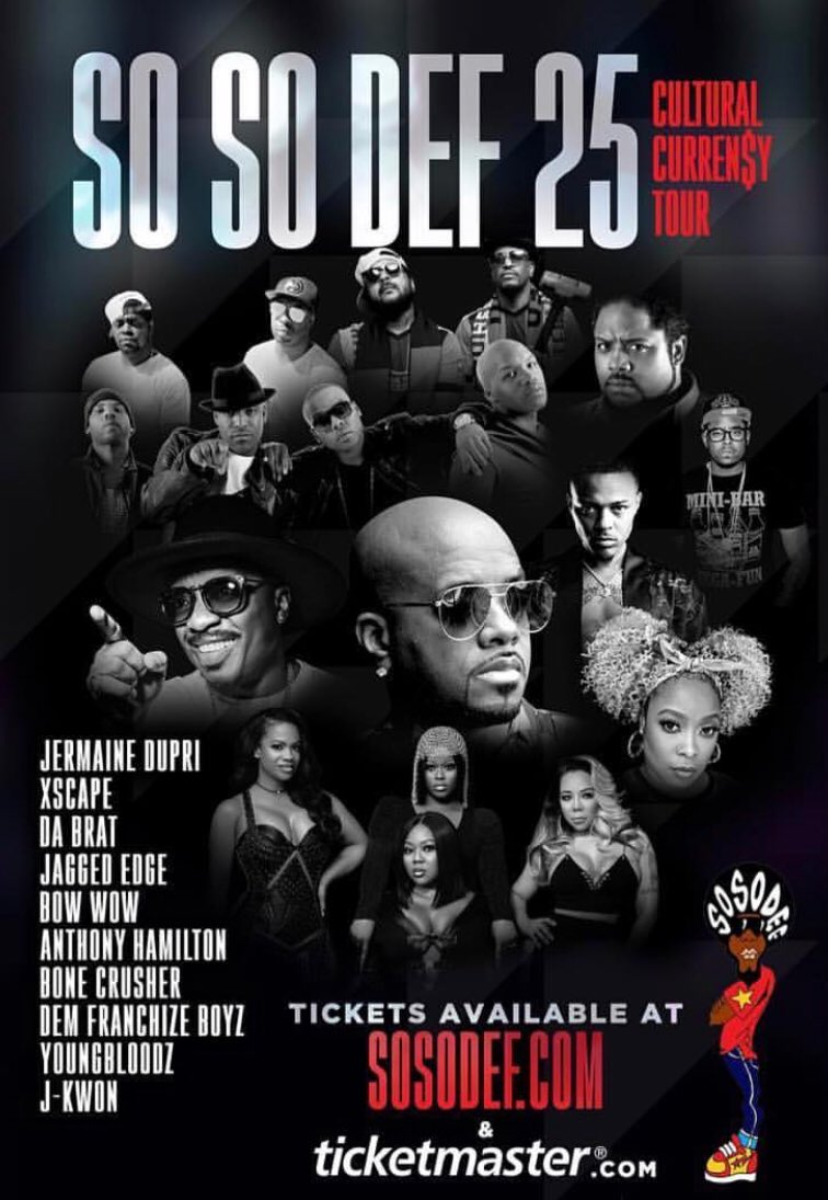 Image result for Jermaine Dupri announced he was postponing the launch of the So So Def 25th Anniversary Culture Currency Tour