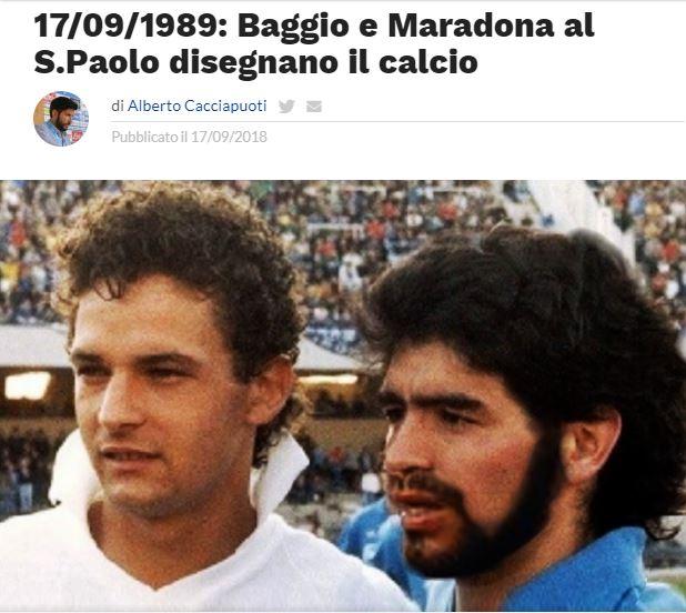 Oggi, 29 anni fa, al #SanPaolo i due fuoriclasse danno spettacolo in un memorabile #NapoliFiorentina. Il racconto di @Alberto_Caccia su 100x100Napoli  - Ukustom