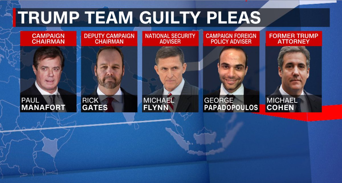 At the start of this new work week, it's important to remember that these five men used to work for  but now - for all practical purposes - work for Special Counsel Robert Mueller.