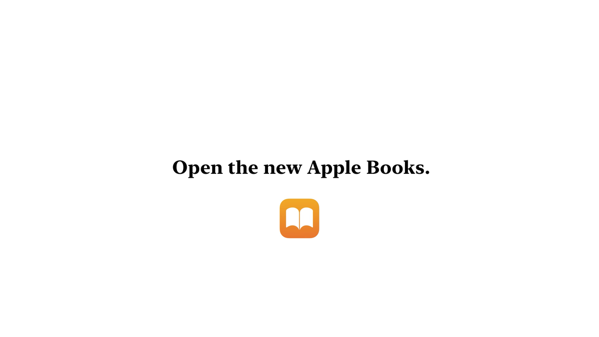 Apple Books is here. Upgrade to iOS 12 to see all the new features. Learn more: https://t.co/uxvPQzzaQh