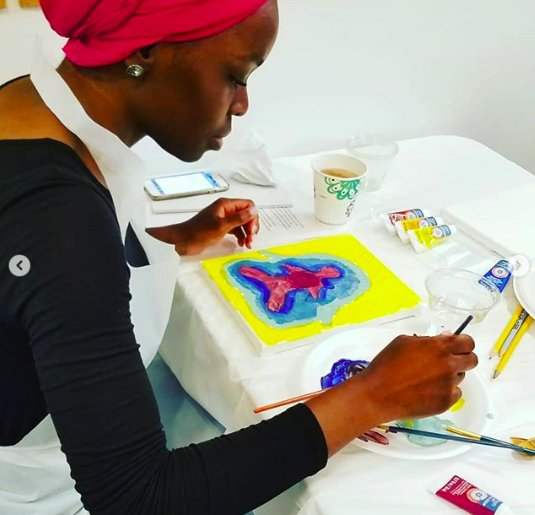 Paint & Sip Power Hour Soothes ATL Community