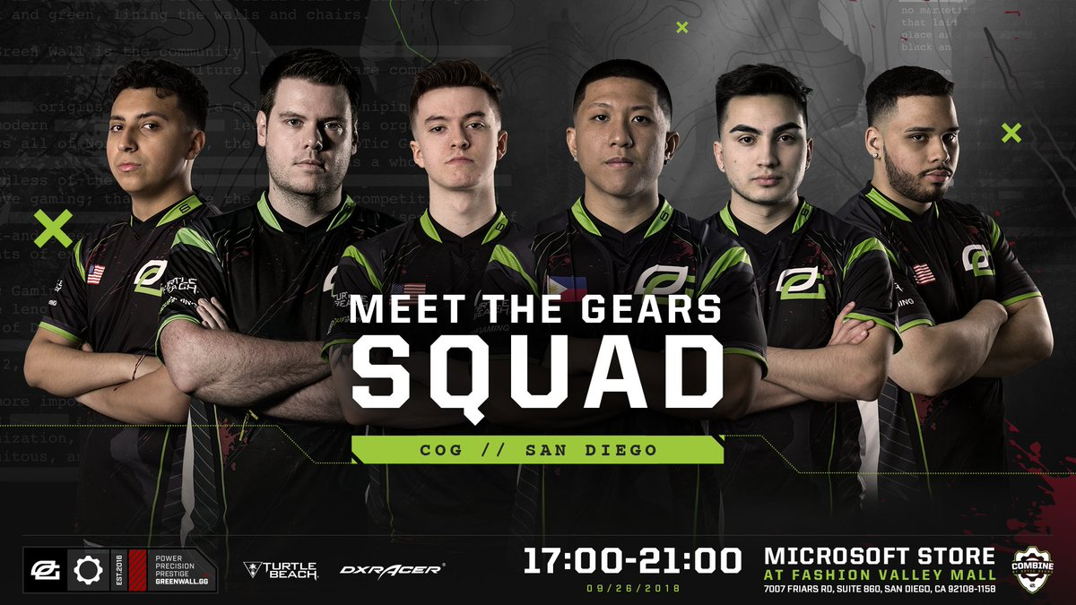 San Diego, don't miss your chance to meet the most dominant esports team in Gears of War history when they visit your local Microsoft store for the Combine!  Event details: https://t.co/n6pKR2hgsT