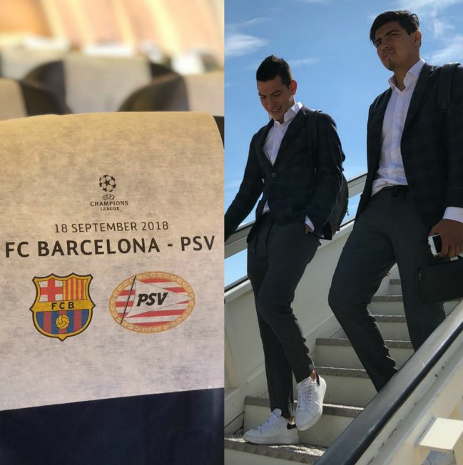 Y de pronto, después de muchísimos años de trabajo, sacrificio y dedicación, un par de chicos que se conocen desde que eran niños aterrizan en la ciudad de Barcelona para jugar un partido de UEFA Champions League ante el Barça. ♪♪ Son los sueños que se ♪♪ Photo