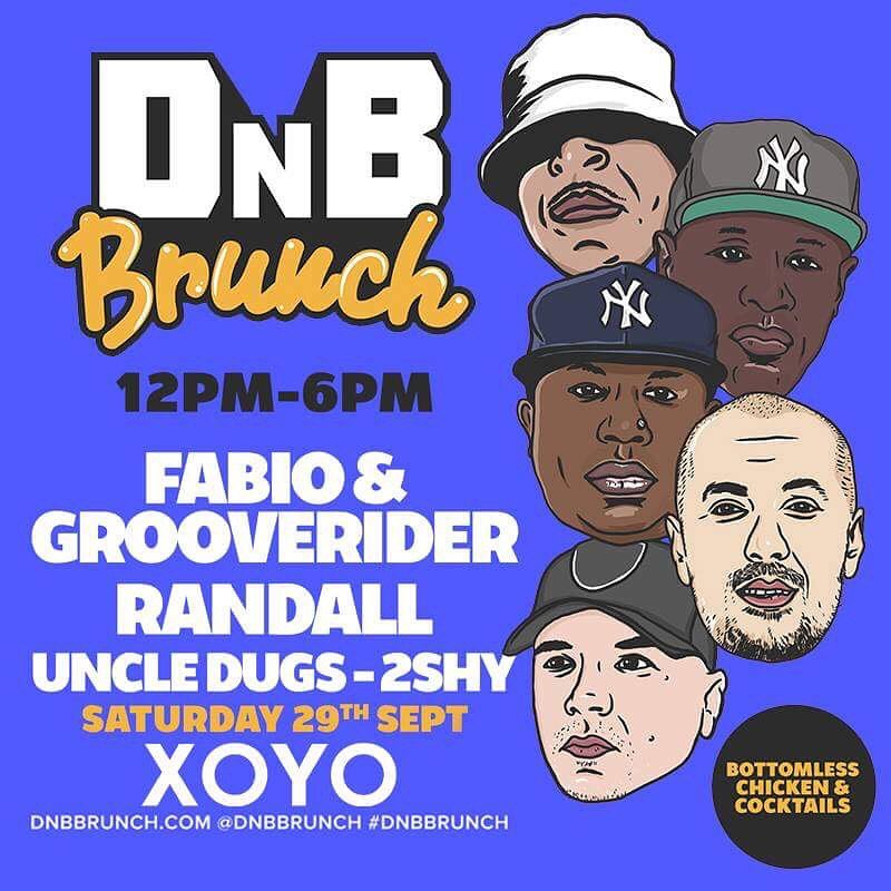 🎶🍗🍹 #DnB brunch are back with their next instalment at East Londons infamous @XOYO_London on Sat 29th Sept, this time with more legends of the scene @fabioandgroove @Randallmac2 @UncleDugs & @2SHYMC... Tickets Here: bit.ly/2xriKzj