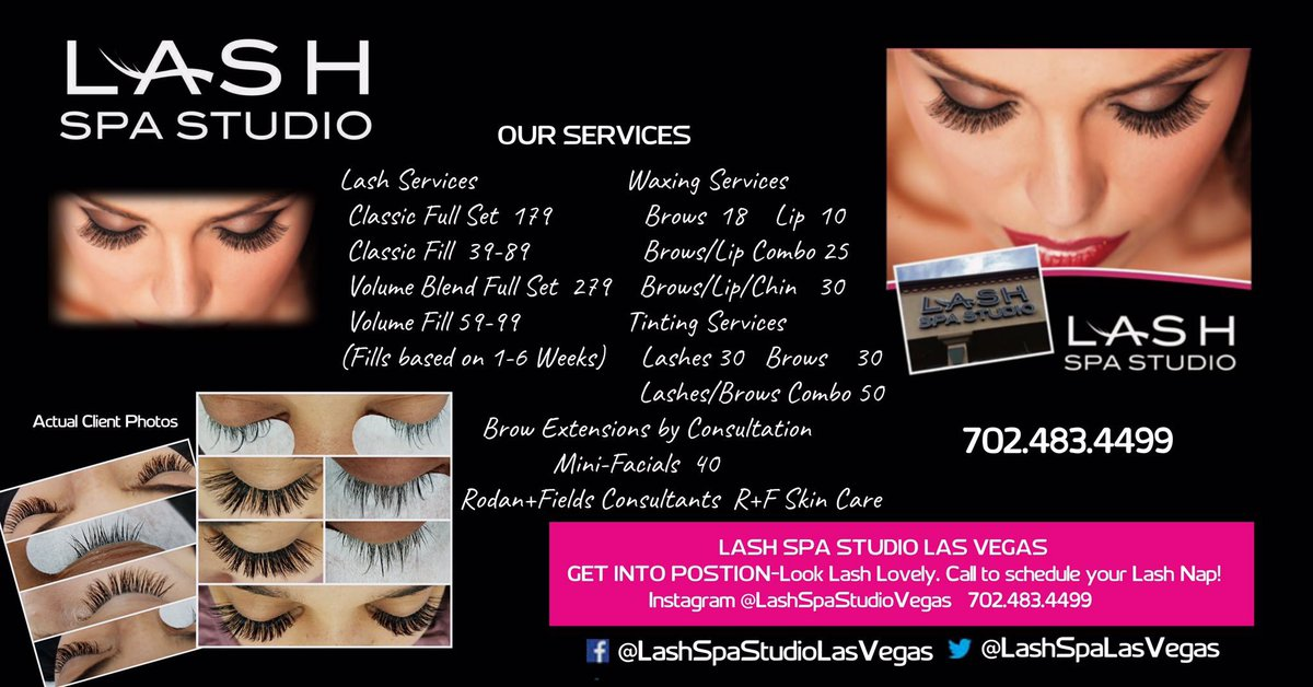 Lash Spa Studio Las Vegas On Twitter See Our Affordable Services