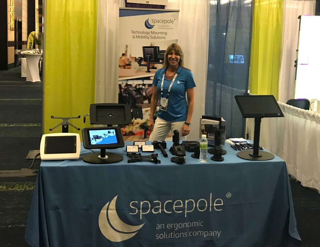 test Twitter Media - Engagement is key when trying to improve customer experience. Visit @SpacePole_Inc at booth 115 to see our newest A-frame tablet enclosure solution, & say hi to our gal, Micki Riecke #VARTECH #VARTECH2018  @BluestarWest1 @Think_BlueStar https://t.co/0RQGIvsx7c