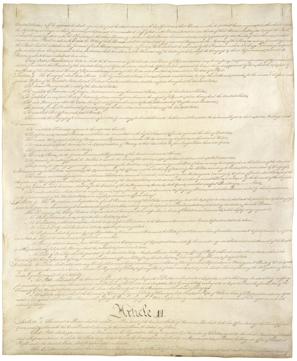 "Signed on this day in 1787, our Constitution grants Congress the power to ""promote the progress of science and useful arts, by securing for limited times to authors and inventors the exclusive right to their respective writings and discoveries."" #ConstitutionDay"