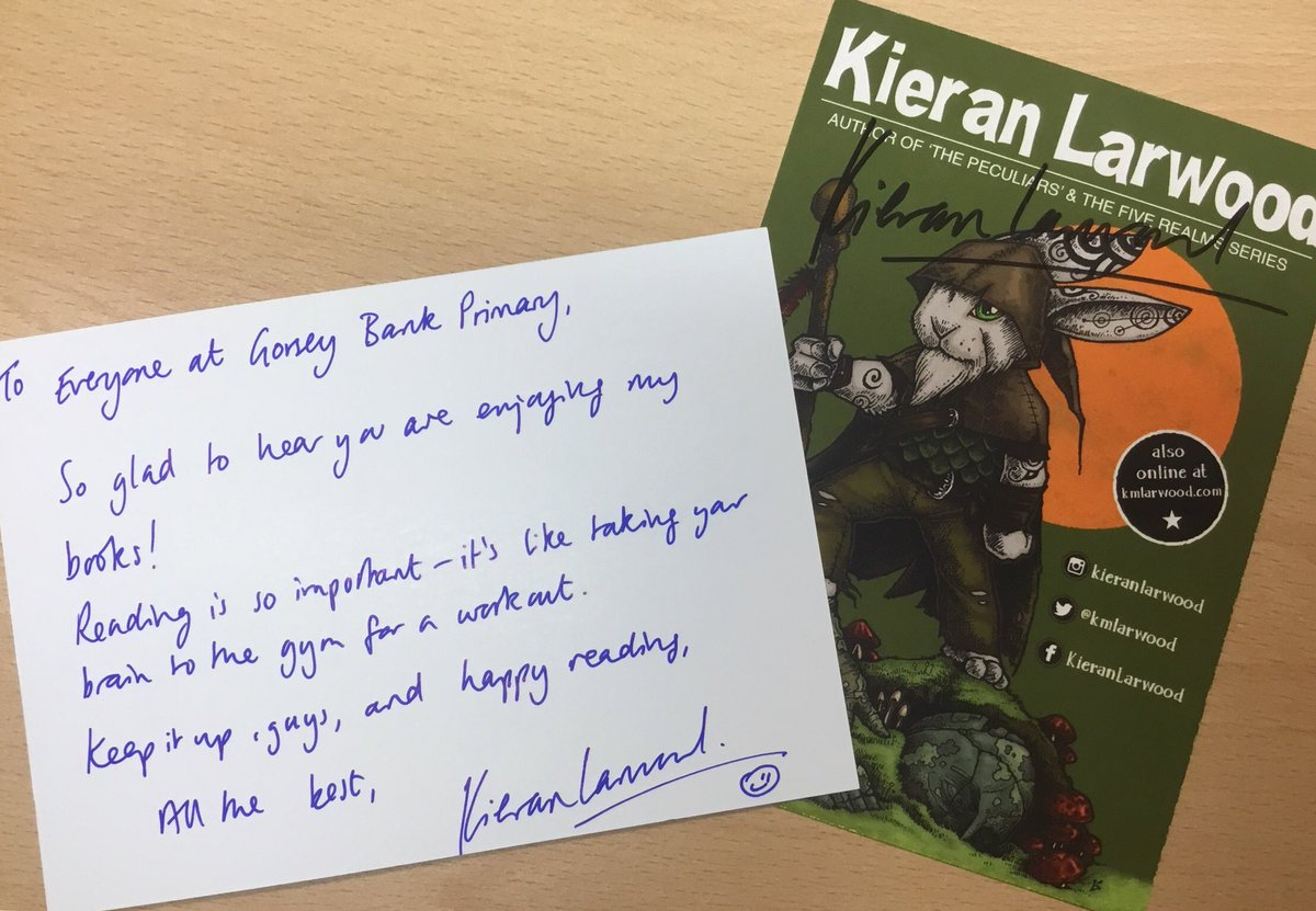 test Twitter Media - 'Reading is important - it's like taking your brain to the gym for a workout' - thank you @kmlarwood for this great message for our young (and slightly older) readers! #gorseybookclub https://t.co/C2nZT4lCh2
