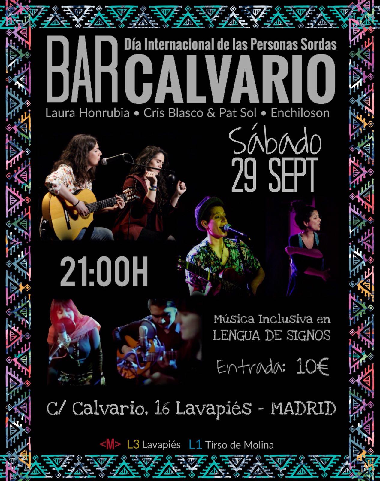 Bar CALVARIO: Música Inclusiva - Día Internacional de las Personas Sordas - 29 sept. Madrid  DnTyGf5XcAAguKX