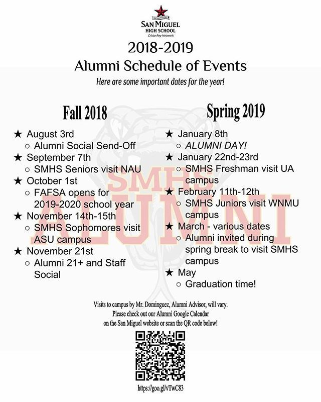 Asu Events Calendar 2020.Smhs Alumni On Twitter Mark Your Calendars Here Is A List