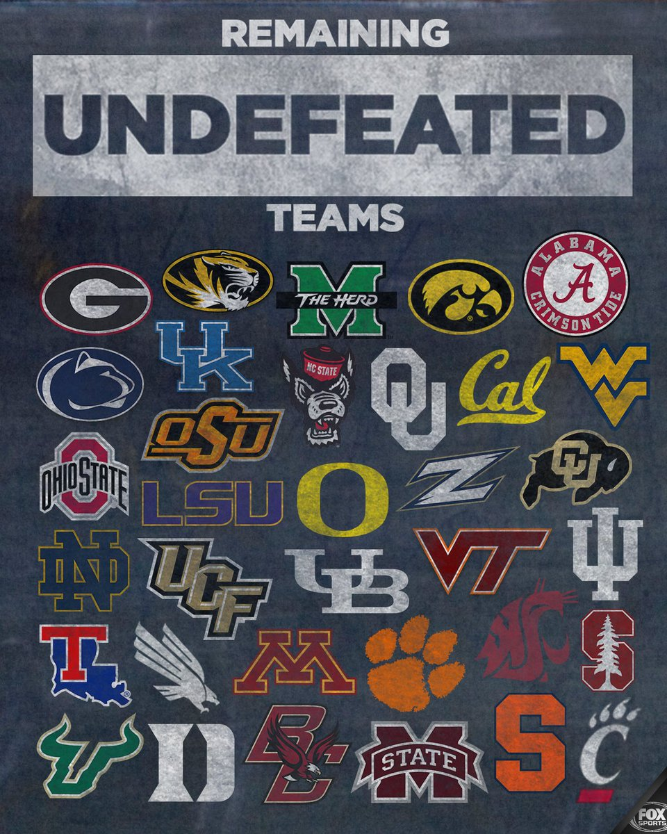 Droppin like flies.  RT if your team is still undefeated after a crazy Week 3.