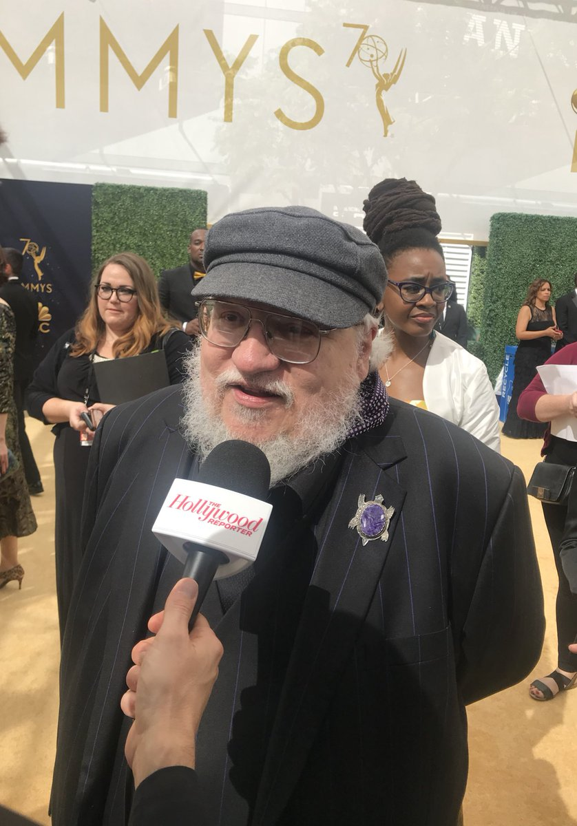 """.@GRRMspeaking is feeling lucky with #GameOfThrones at the #Emmys: """"I have dragons on my side."""""""