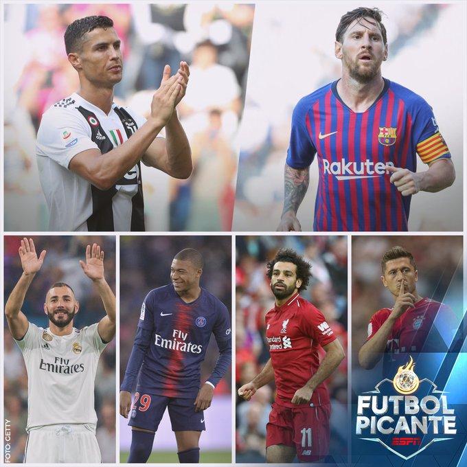 En las últimas 10 temporadas de la #ChampionsxESPN, el goleador ha sido Messi o Cristiano ⚽ *Neymar empató a ambos en la edición 2014-2015 ¿Quién es la mayor amenaza en el récord? 🤔 🇪🇬 Salah 🇫🇷 Mbappé 🇫🇷 Benzema 🇵🇱 Lewandowski Foto