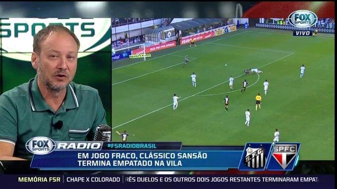 🎙Flávio Gomes: O @SaoPauloFC vem caindo de produção, não tem feito grandes jogos, mas se mantém potuando, que é o mais importante #FSRádioBrasil Foto