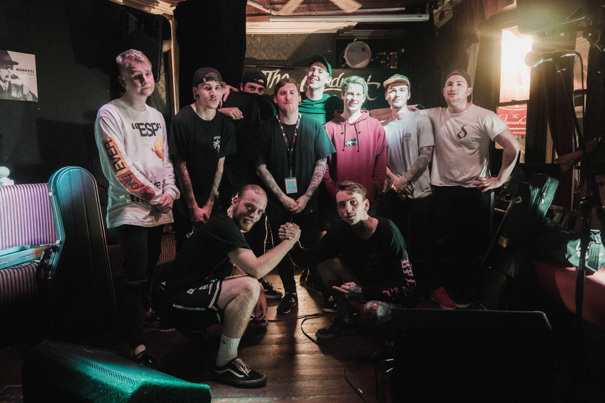 Thank you to everyone who came out to see us this weekend with our boys @dayshifteruk . Every show was a sweaty success, we really can't express our gratitude enough.  <3  Photo @doddsfilm
