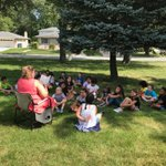 A BEAUTIFUL day for an outdoor read aloud! Great idea @collurateach  #d123 #swd123