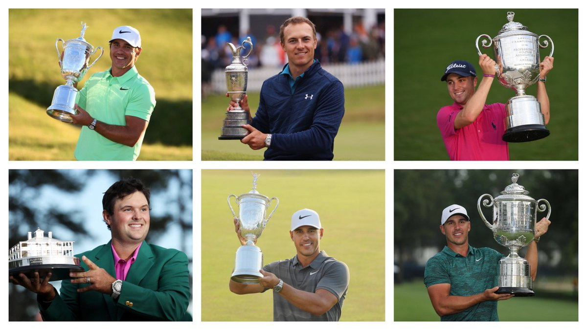 Since the last #RyderCup:  2017 Masters  2017 US Open  2017 Open  2017 @PGAChampionship  2018 Masters  2018 US Open  2018 Open  2018 #PGAChamp  <br>http://pic.twitter.com/wMAga20FiC