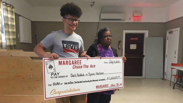 aunt, nephew reach deal on disputed $ Chase the Ace prize: Photo