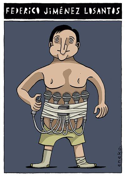 Retrato de Jiménez Losantos. Publicado en @eljueves