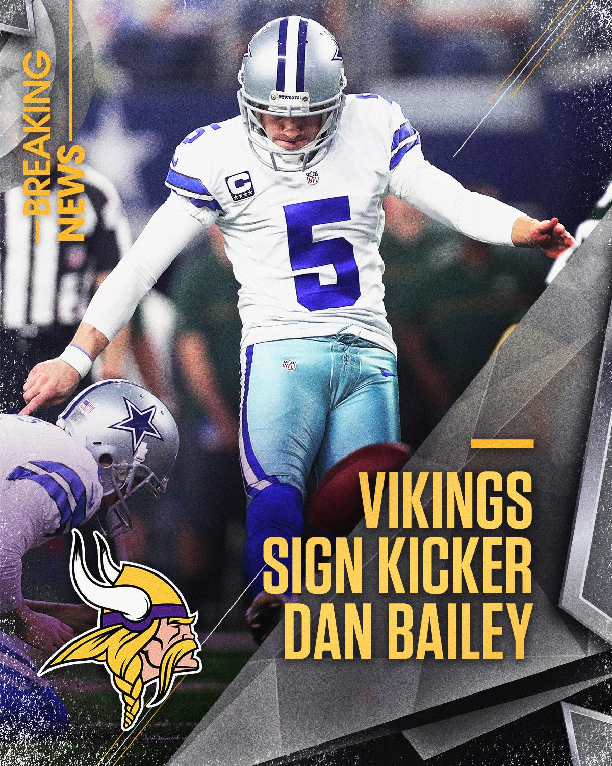 The @Vikings sign kicker Dan Bailey, who has the 2nd highest FG% in NFL history.  Read more: https://t.co/iTV0bxfPAj https://t.co/2jQCsS25l8