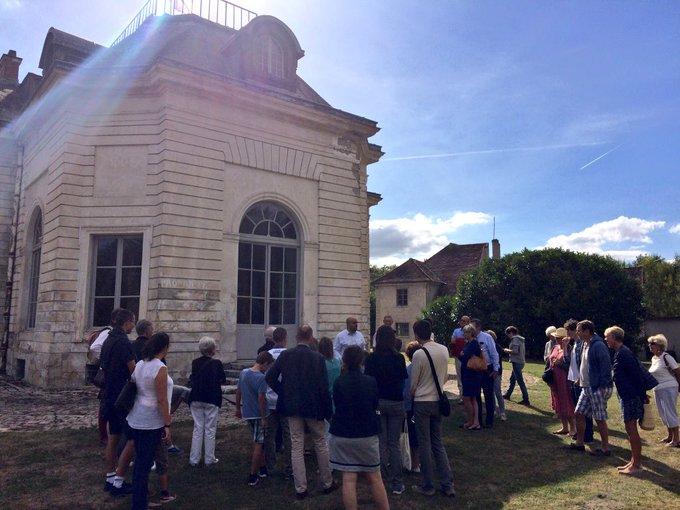 #JEP2018 à La Muette, 200 visiteurs. Des groupes à taille humaine, un moment privilégié pour les visiteurs. Mais 12 visites, cela vous laisse vanné. Même pas eu le temps d'un tweet! Photo